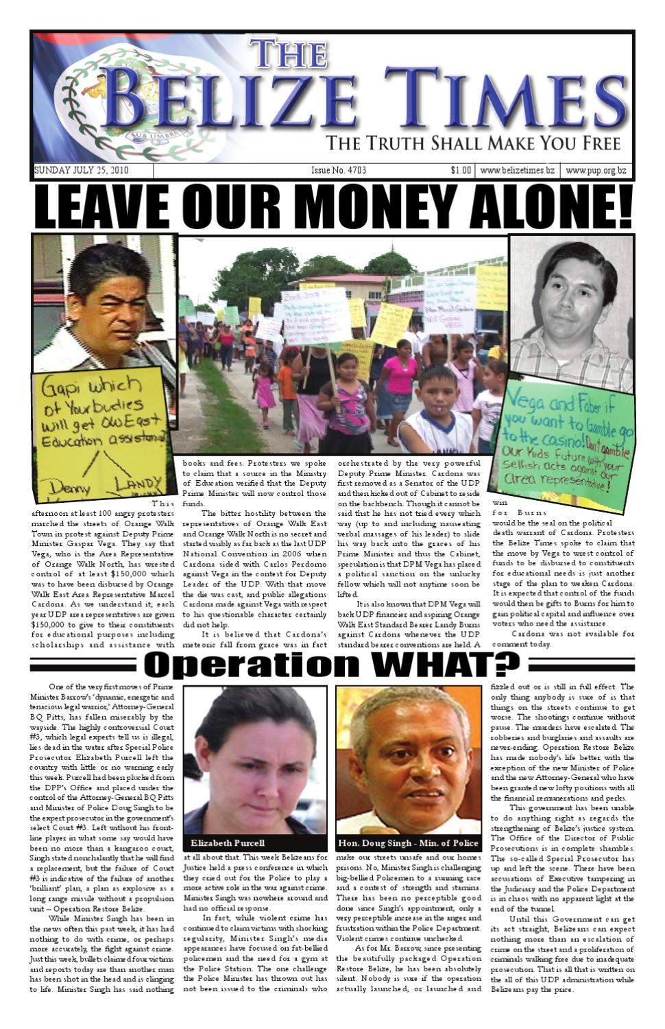 Belize Times 100725 by Belize Times Press - issuu