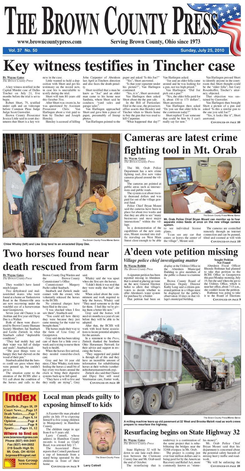 Ohio brown county sardinia - Brown County Press