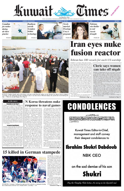 25 Jul by Kuwait Times - issuu