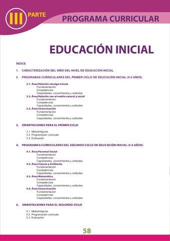 Dcn inicial by luis alberto carbonero villalobos issuu for Programa curricular de educacion inicial