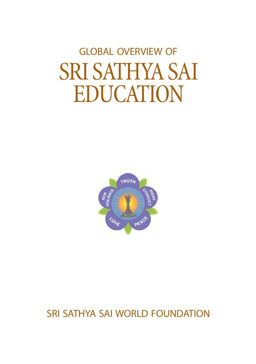 Global Overview of the Sathya Sai Education by Sai Council