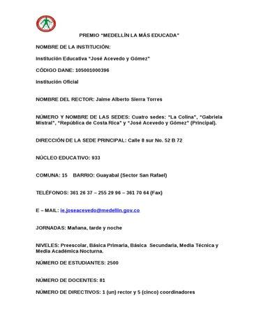 Postulación al Premio Medellín la más educada by Cecilia Sierra ...