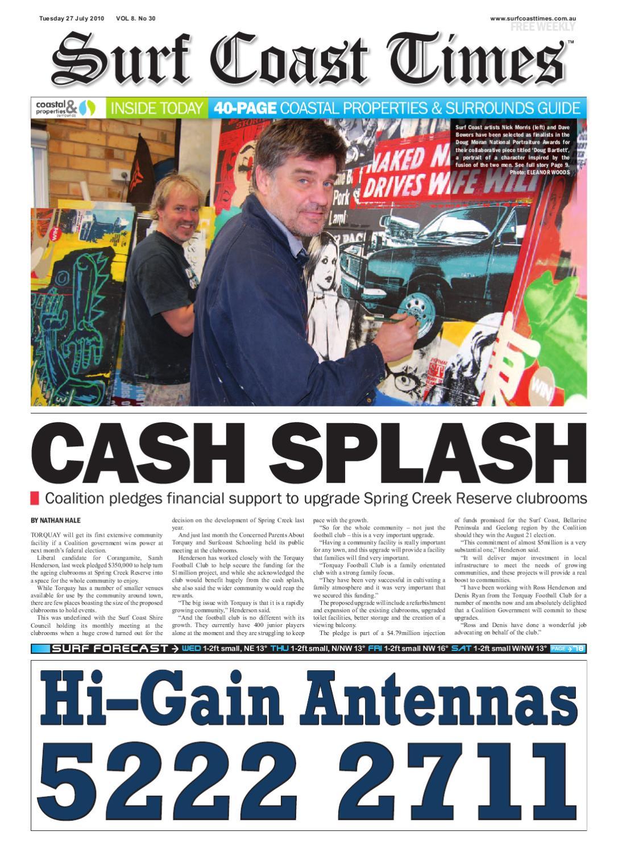 30 Surf Coast Times July 10 by Surf Coast News Australia Pty Ltd   issuu