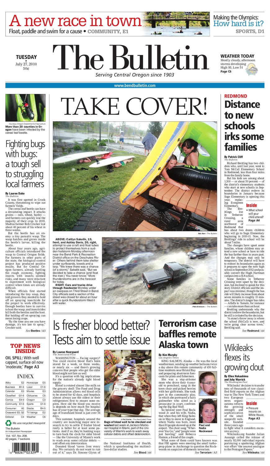 Bulletin Daily Paper 07/27/10 by Western Communications, Inc ... -