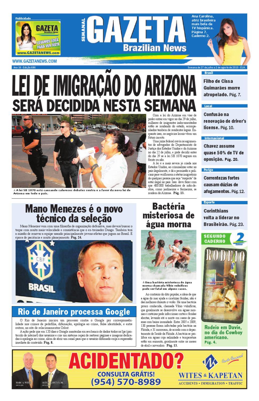 5ff6764d7 Edição 686 - 27 de julho a 02 de agosto - Gazeta Brazilian News by Gazeta  Brazilian News - issuu