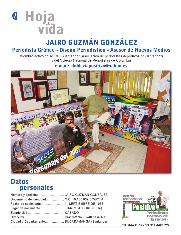 Hoja de Vida Jairo Guzman by Revista Digital - issuu