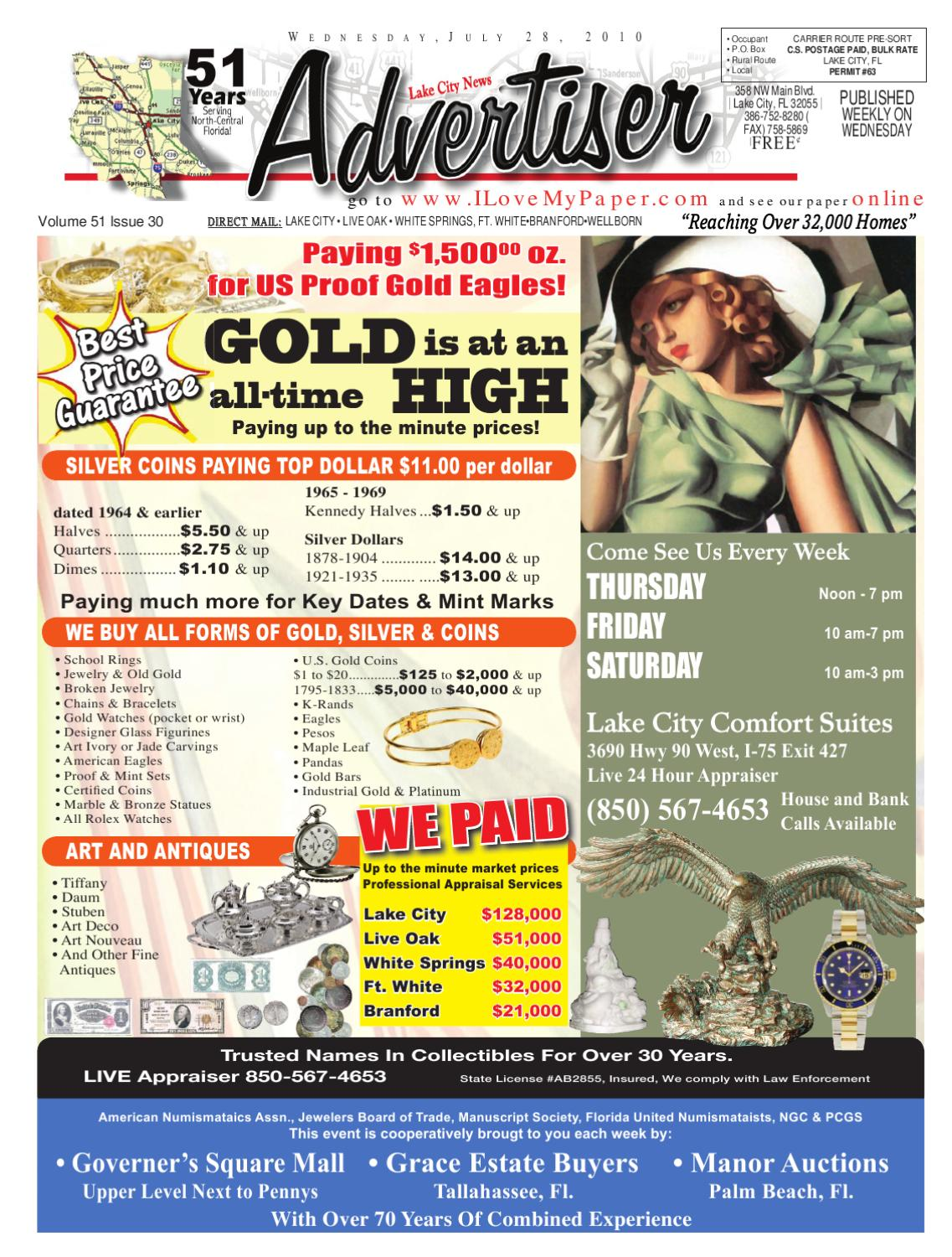Newspaper Lake City Advertiser Volume 51 Issue 30 by SCBUSA