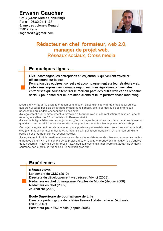 cv erwann gaucher by imprimerie de l u0026 39 avesnois