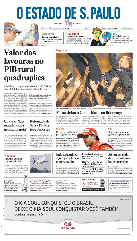 ba7d25002b O Estado de SP em PDF - Segunda 26072010 by Carlos Silva - issuu
