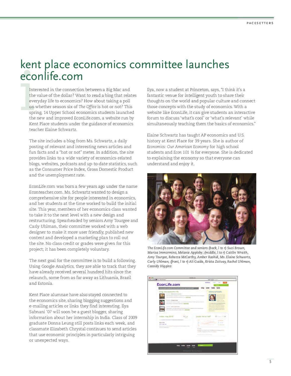 Keeping Pace Spring/Summer 2010 by Kent Place School - issuu