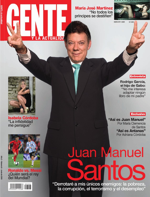 Revista Gente Colombia Juan Manuel Santos By Revista Gente Colombia
