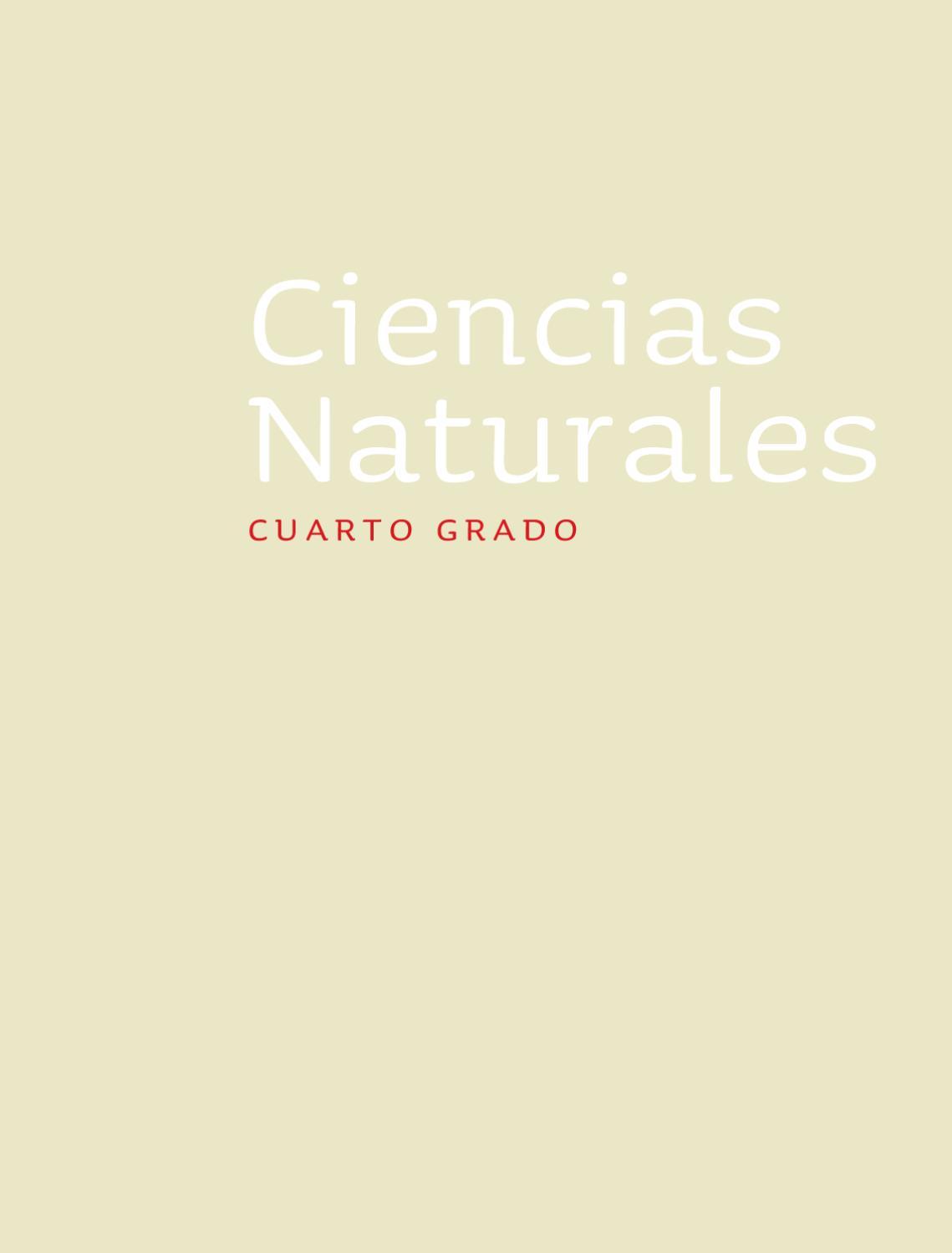 Ciencias Naturales 4to. Grado by Rarámuri - issuu