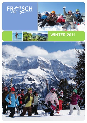 Frosch Sportreisen Winter 2011 by Frosch Sportreisen - issuu