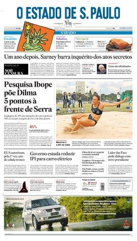 ab25ddeb627 O Estado de SP em PDF - Sabado 31072010 by Carlos Silva - issuu