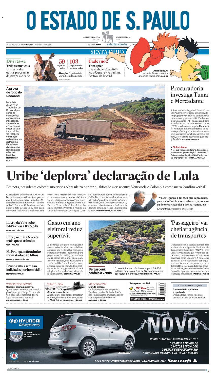 72b1dda811f48 O Estado de SP em PDF - Sexta 30072010 by Carlos Silva - issuu