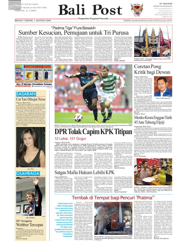 edisi 1 agustus 2010 balipost com by e paper kmb issuu  lagu crazyrasta berlari berkejaran.php #15
