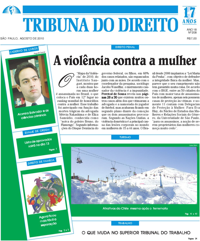 Agosto de 2010 - nº 208 by Editora Juridica MMM - issuu 3da859f970fd7