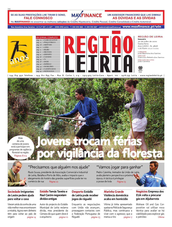 aa8b4422c Região de Leiria de 30 de Julho de 2010 by Região de Leiria Jornal - issuu
