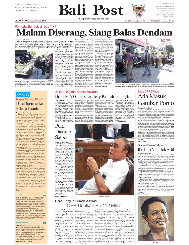 Edisi 03 Agustus 2010 Balipostcom By E Paper Kmb Issuu Voucher 200 Double Point Sticker Tiara Gatzu Monang Maning Toko Soputan