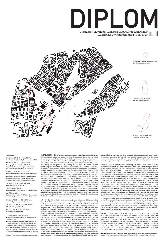 Diplomzeitung 2010/2 - TUM Architektur by Martin Luce - issuu