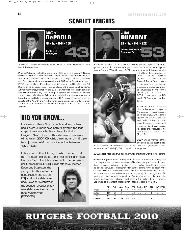 2010 Rutgers Football Media Guide by Rutgers Athletics - issuu
