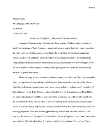 Refutation essay
