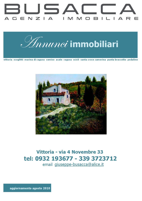 annunci immobiliari agosto 2010 by busacca agenzia