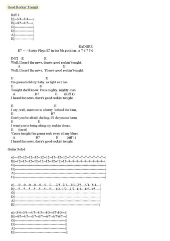 Elvis Presley 50s Guitar Chords Tabs By Diego Forero Issuu