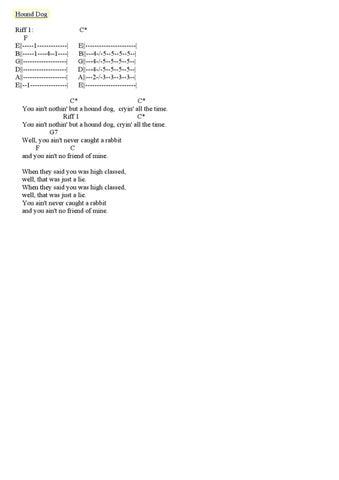 Elvis Presley 50s Guitar Chords Tabs By Diego Forero Issuu