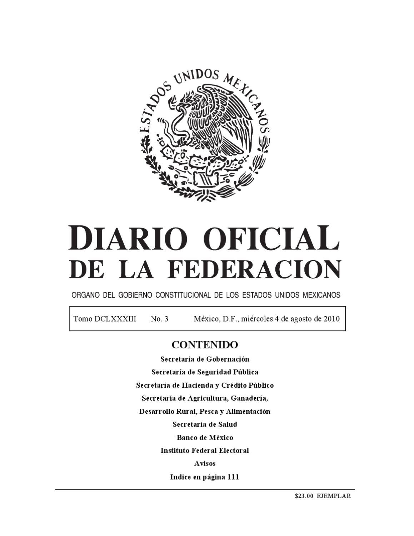 Diario Oficial de la Federación by Rodrigo Mendoza - issuu