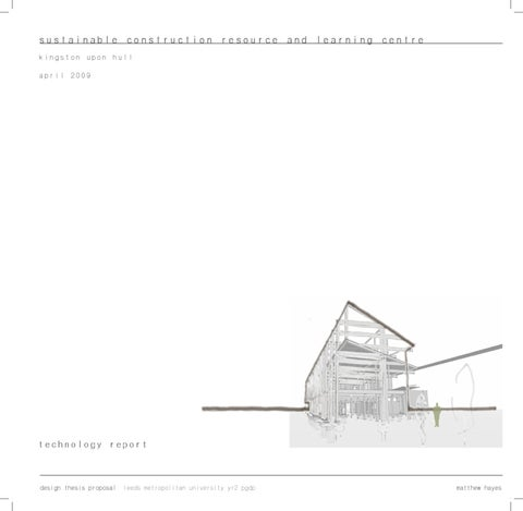 architectural report thesis technology diploma