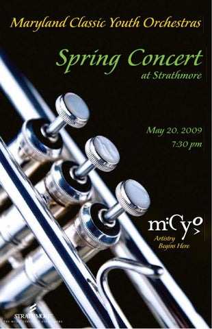 Mcyo Sample Concert Program By Maryland Classic Youth Orchestras  Issuu