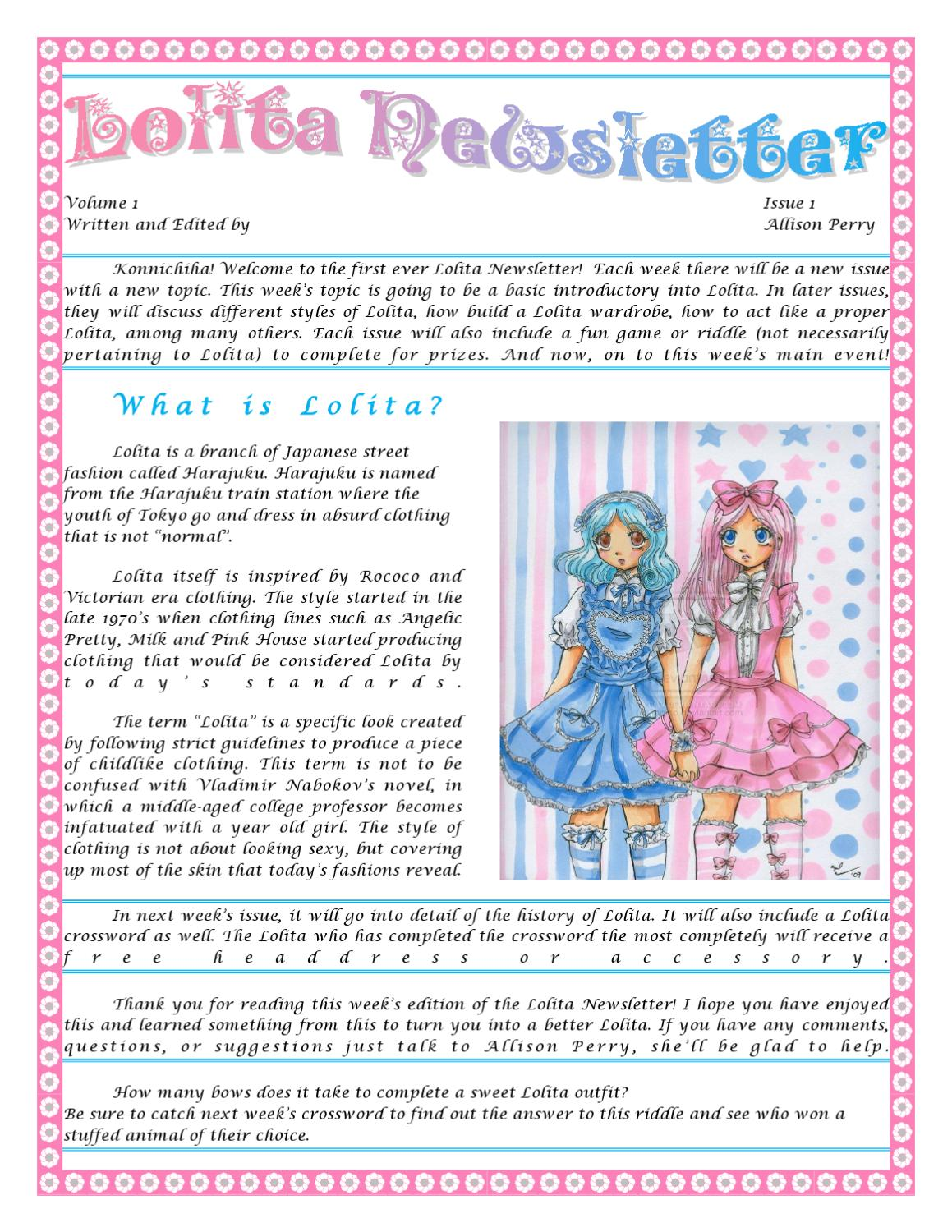 Lolita Newsletter By Samantha Perry Issuu