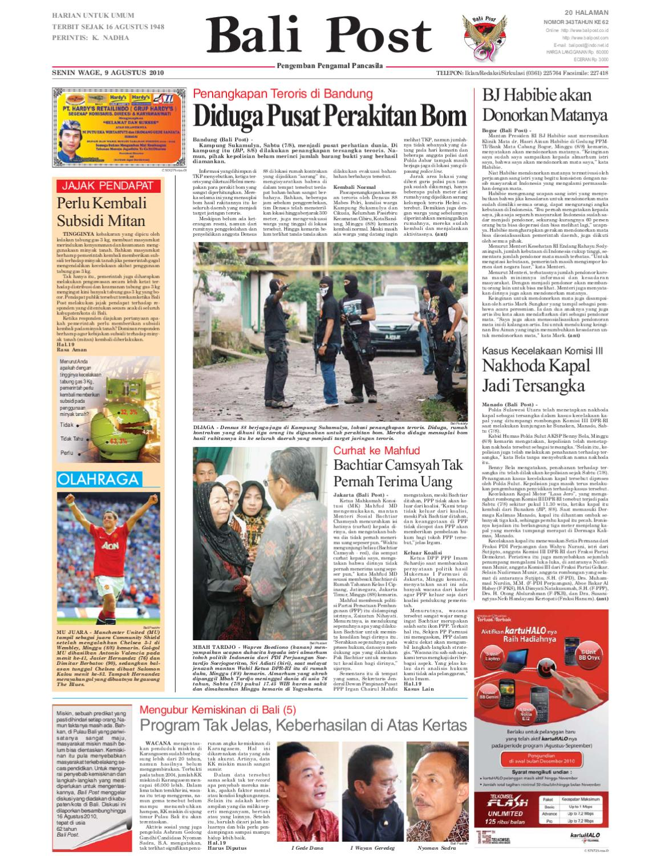 Edisi 9 Agustus 2010   Balipost.com by e-Paper KMB - issuu