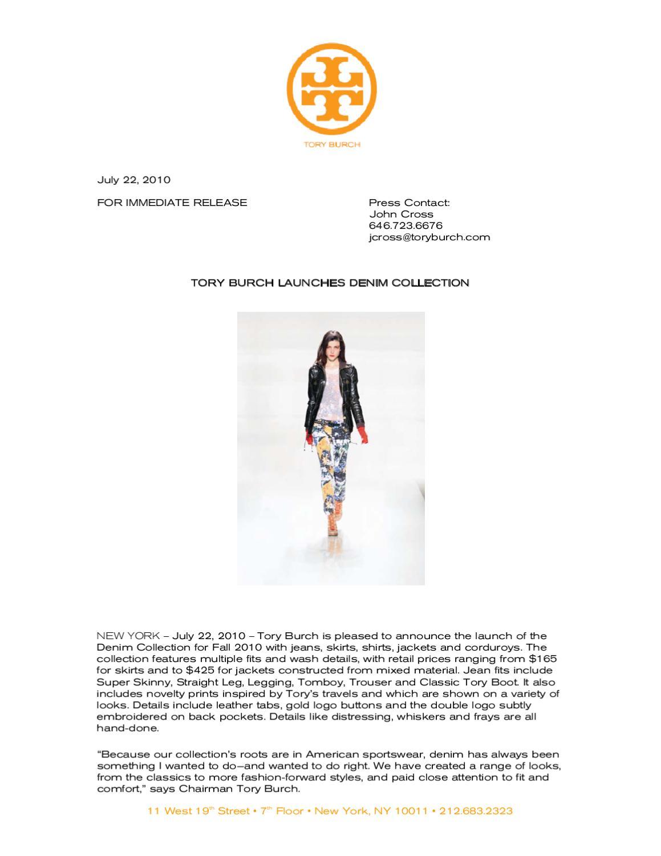 b4c8299120e7 Denim Press Release by Krista Tenaglia - issuu