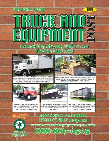 Truck And Equipment Post - Issue #32-33, 2010 by 1ClickAway - issuu