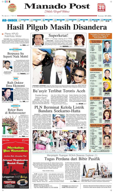Manado Post 10 Agustus 2010 By Issuu E5673 Tsel Ramadhan Fair Asia Plaza Tasikmalaya