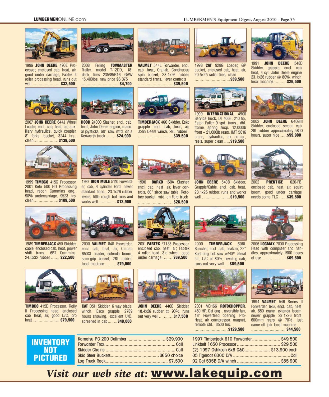 August 2010 / LUMBERMEN'S Equipment Digest by LUMBERMEN'S Equipment
