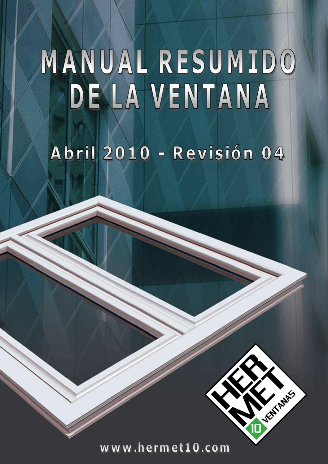 Manual de la ventana Hermet10 by HERMET10 - issuu