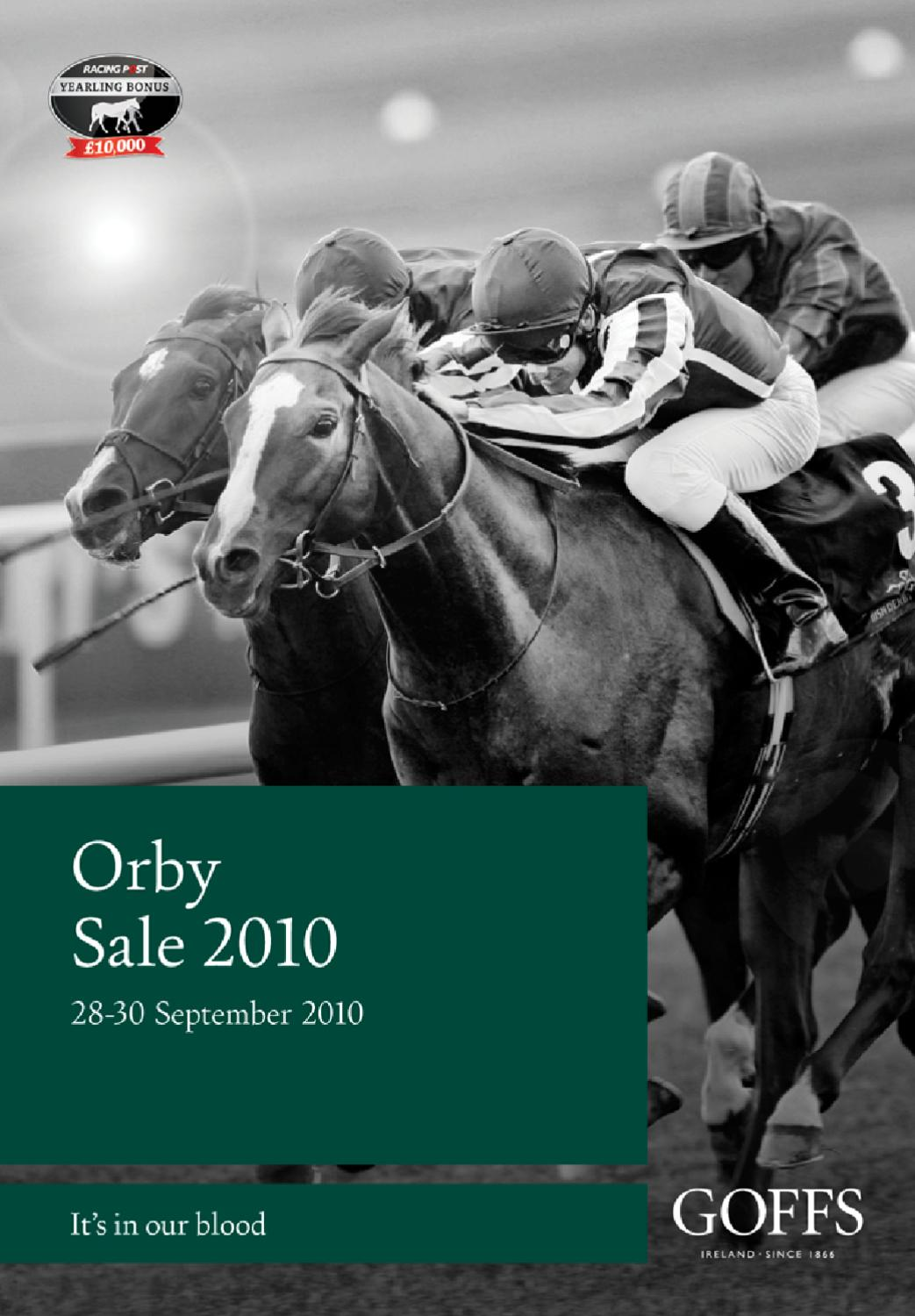 Goffs 2010 Orby Yearling Sale By Goffs Issuu