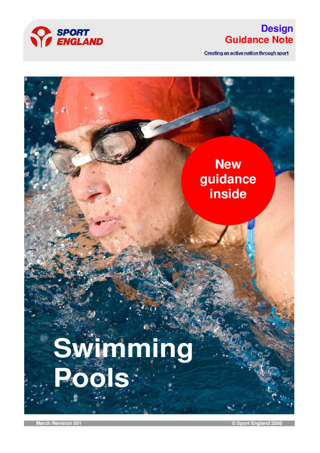 Guidelines sport england swimming pool design by aquatic for Sport swimming pool design