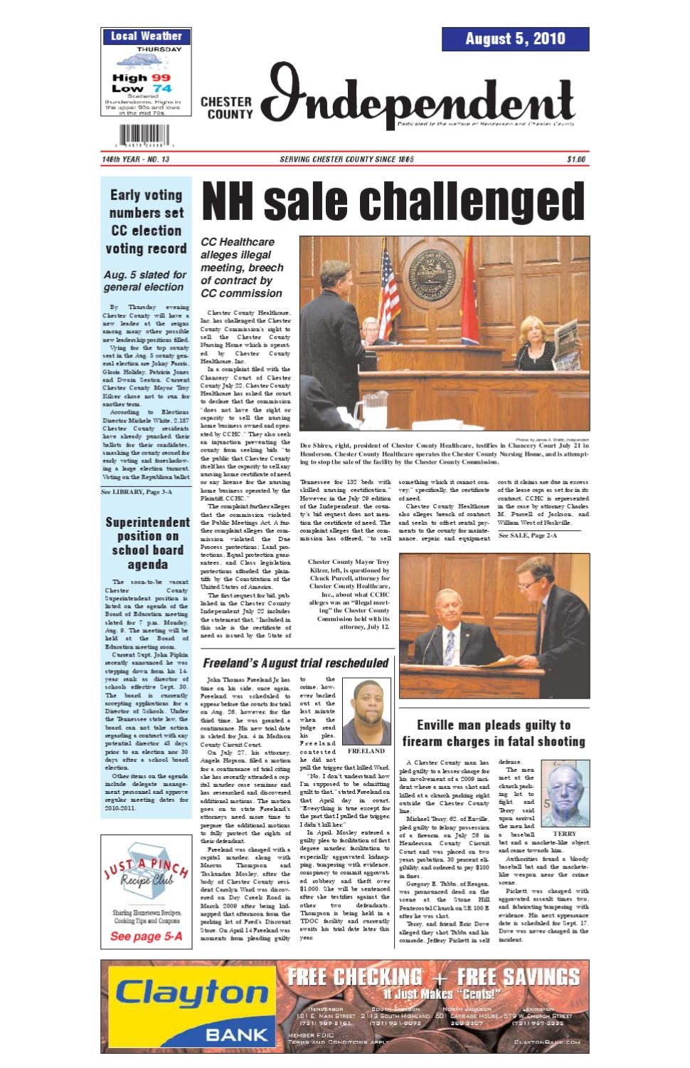 Tennessee chester county enville - Chester County Independent 08 05 10 By Chester County Independent Issuu