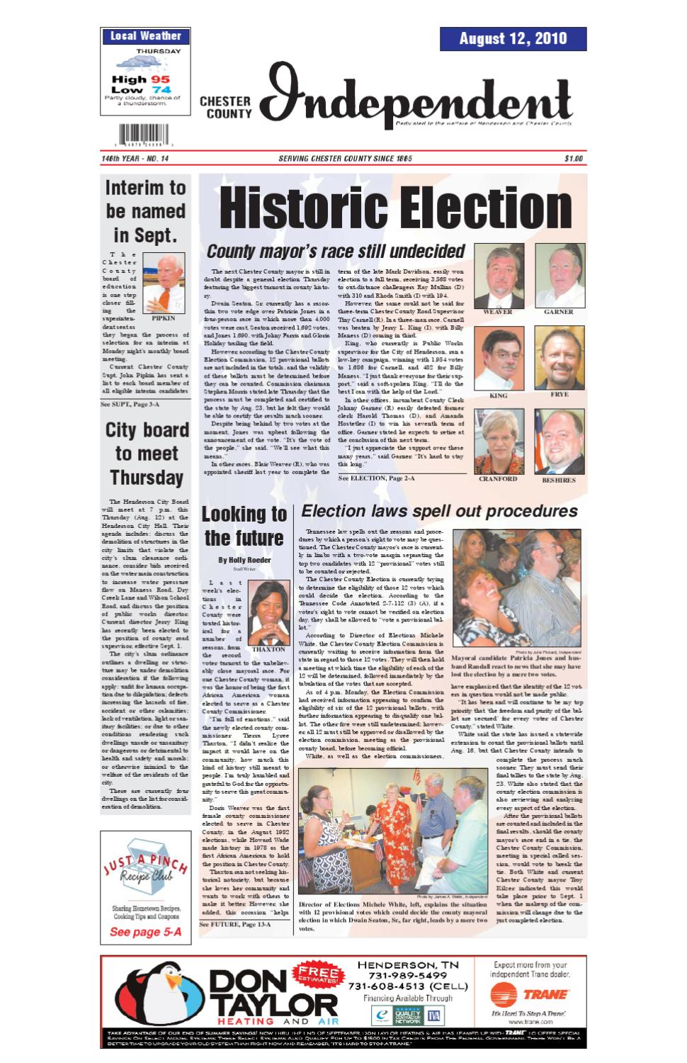 Tennessee chester county enville - Chester County Independent 08 12 10 By Chester County Independent Issuu