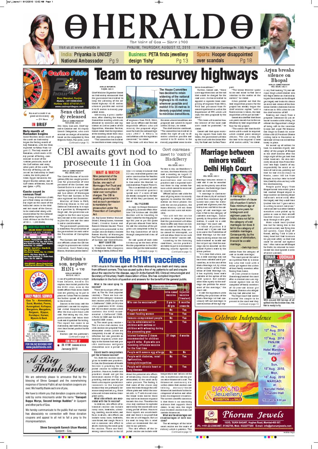 12 AUG HERALD PUBLICATIONS PVT LTD by Herald Publications