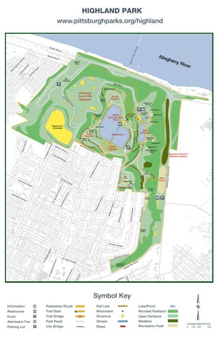 Highland Park Map Highland Park Trail Map by Pittsburgh Parks Conservancy   issuu Highland Park Map