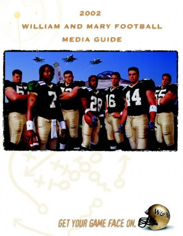 2002 Tribe Football Media Guide by College of William and Mary - issuu 5ed9a93e4