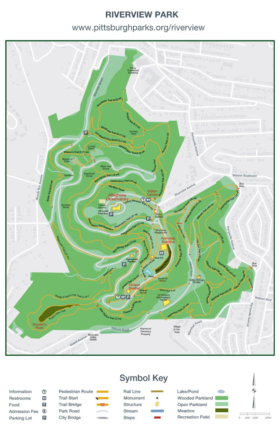 Riverview Park Trail Map By Pittsburgh Parks Conservancy