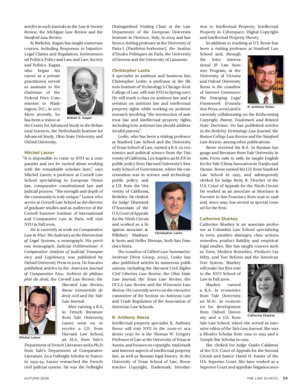 The Law School 2006 by NYU School of Law - issuu