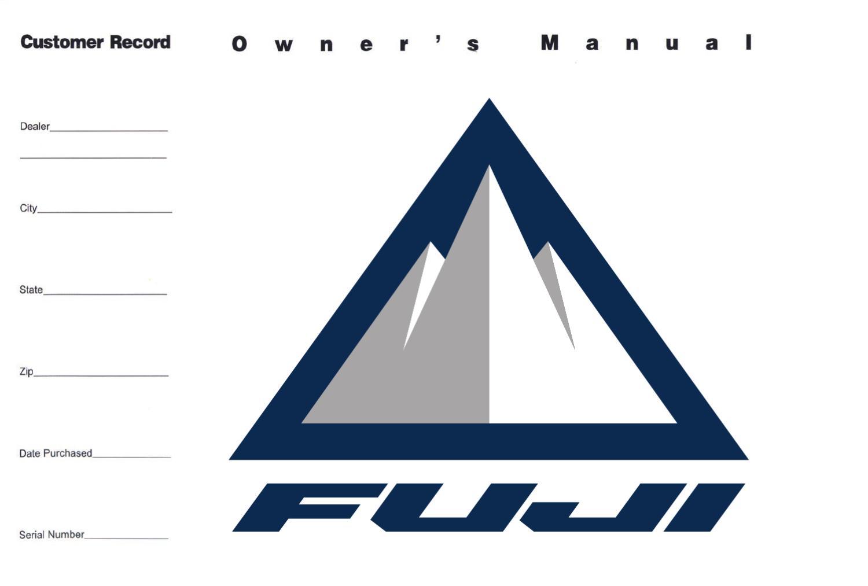 fuji owner s manual by fuji bikes issuu rh issuu com Fuji Mountain Bikes Fuji Mountain Bikes