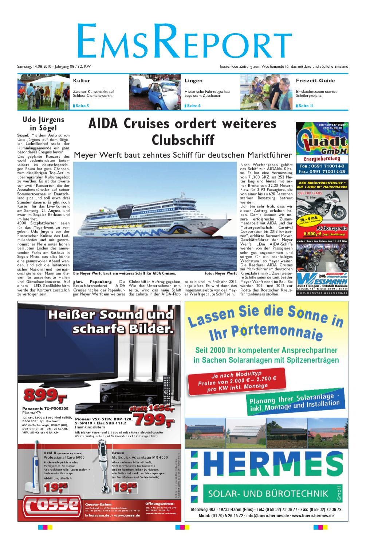 GroBartig Der Ems Report Ausgabe Online KW32/10 By Ems Report GmbH U0026 Co. KG   Issuu